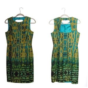 Muse Snake Print Sheath Dress Sleeveless Sz 8